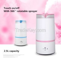 Ultra-Quiet Ultrasonic Cool Mist Humidifier - 3L Capacity, - Easy to use - Low and High settings - Night light - Great for kids rooms