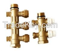 Practical 180 Degree 3 Exit Forged Brass Manifolds