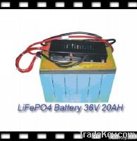 Power Battery for Motorcycle/Golf Cart 36V 20ah LiFePO4