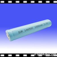 Rechargeable Lithium Ion Battery for Flash Light  3.7V 14650 1000mAh