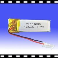 Polymer Lithium Battery Pack 3.7V for Blue tooth/GPS 120mAh (501030)