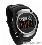 Multifuction Gps Tracking Watch Phone Mp3 Pg66g White