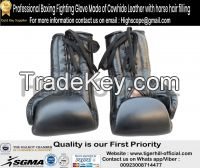 Horse Hair Padded Boxing Professional Gloves Made Of Cowhide Leather