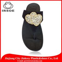 2014 new arrival Chinese lady wedge flip flop