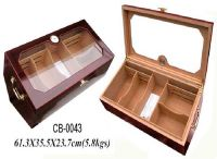 New luxury MDF wooden cigar box with cedar and venner