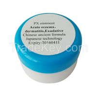 Acute or subacute Exudative eczema dermatitis treatment: PX ointment, 100% Chinese tradtional medicine, 100% CTM