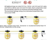 Job-Site Lighting/LS-50 14/3 SJTW Job-Site 5Lamp String Light With Metal Cage Guard