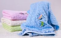 100% cotton emboidered guest towel 50*100cm for hotel use factory direct