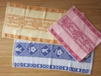 14s dyed yarn jacquard hand towel pink blue towels