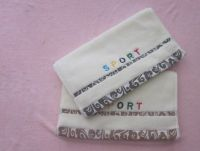 none twist embroidered sport soft hand towel