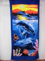 30 in X 60 in 75 x 150 cm 100% Cotton Outdoor Beach Towel animal print Fashion Girl Favors Party Gift Bath Towels