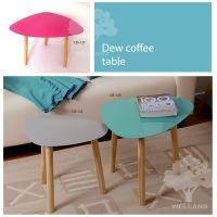 Everfall coffee table with wood brackets