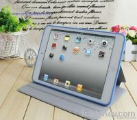 360 degree rotating ultrathin cover leather case for ipad mini