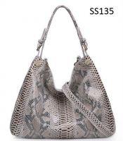 Lady's Snakeskin Tote Hobo Handbag Shoulder Bag