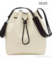 Ladies Drawstring Bucket Bag Shoulder Bag Crossbody Bag with Tassel
