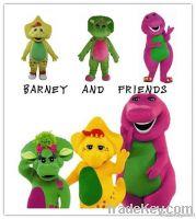barney dragon mascot costume