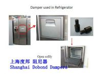 Refrigerator ice bar damper, Rotary dampers