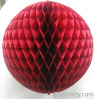 Paper Honeycomb Ball Red