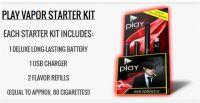 Play Vapor Electronic Cigarette Orange Refill Cartridge 5-Pack