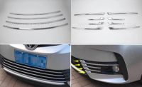 Toyota Corolla 2017 Chrome Lower Front Grille Trims / Front Fog Lamp Covers