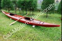 Double Kayak Dark Painted with Red bottom 19'