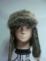 Ladies composite faux fur aviator hat