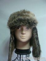 Ladies composite faux fur aviator hat