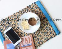 Vietnam seagrass-canvas plate mat