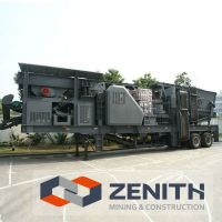 Mobile jaw Crusher,ZENITH portable crusher,100 tph mobile primary crusher