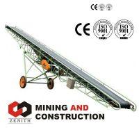 mobile conveyor,flat belt conveyer, rubber conveyor