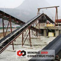 belt conveyor for stone crushing line,flat belt conveyer, rubber conveyor