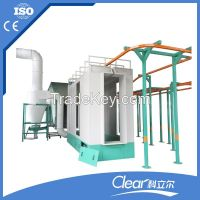 powder coating booth for metall parts