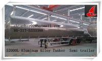3 axle kerosene aluminum tank truck with CCC/ISO certificate