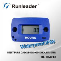 Digital Waterproof Induction Motorcycle Hour Meter For Gasoline Engine 2/4 Stroke
