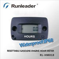 Digital Waterproof Induction Motorcycle Hour Meter For Gasoline Engine 2/4 Stroke