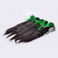 5A Grade Brazilian Virgin Remy Straight Hair 1B Color 100G Per Bundle 12-30Inch 100% Unprocessed Human Hair Weaving