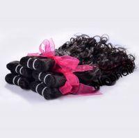 Virgin Brazilian Hair Natural Water Wave 12-30 Inch  1B Color 100g Per Bundle 100% Human Hair Weaving