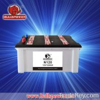 auto battery dry charged battery N120 korean car battery SMF