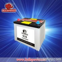 automotive battery dry charged N36 12V36AH hybrid car battery