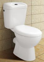 two piece p-trap toilet, water closet