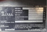 Used Wheel Loader, Komatsu WA380-3
