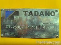 Used Truck Crane, Tadano GT250E