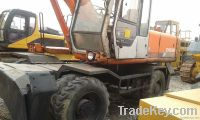 Used Wheel Excavator, Hitachi EX160WD