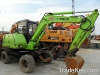 Used Mini Wheel Excavator, Hyundai R60W-5