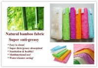 100% Bamboo fiber dish cloth