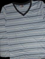 Men's Long Sleeve V-neck Printed T-shirts