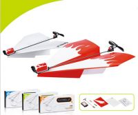 RC toys Child Education  toys  Manual folding electric paper airplane