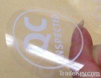 Transparent self-adhesive customize pvc stickers label Free shipping