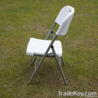 white plastic stackable chair for indoor or outdoor
