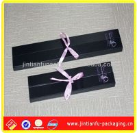 2013 hot sale black paper hair packaging box with bowknot